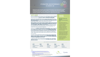 AIFP: Vyvracíme dezinformace: vakcíny a senioři - ONE PAGER